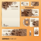 Corporate identity business set design Royalty Free Stock Photos