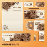 Corporate identity business set design Stock Photos