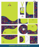 Corporate identity business set design.Abstract triangles patter Royalty Free Stock Photos
