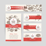 Corporate identity business set design with baking Royalty Free Stock Photo