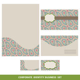 Corporate identity business set design.Oriental paisley pattern Royalty Free Stock Photography