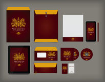 Corporate identity business set Royalty Free Stock Images