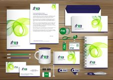 Corporate Identity Business template design Vector abstract stationery , Gift Items Color promotional souvenirs elements. link di. Corporate Identity Business royalty free illustration