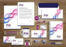 Corporate Identity Business template design Vector abstract stationery , Gift Items Color promotional souvenirs elements. link di. Corporate Identity Business vector illustration