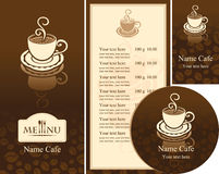 Corporate identity for the cafe Stock Photos