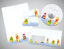 Corporate identity Christmas design Royalty Free Stock Image