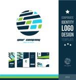 Corporate identity circle blue logo Royalty Free Stock Images