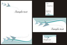 Corporate identity design royalty free illustration