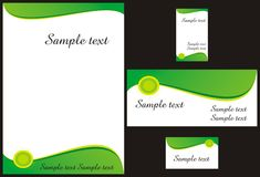 Corporate identity design. Template vector with memo, logo, envelope, vertical and horizontal visiting cards. Look for more illustrations in my portfolio Stock Image