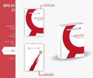 Corporate identity design for business - Abstract red vector bag Stock Photography