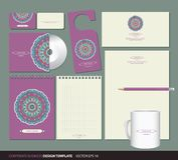 Corporate identity design Stock Images