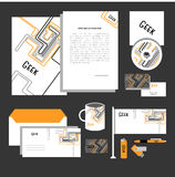 Corporate identity design. Classic stationery templates set Royalty Free Stock Image