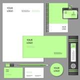 Corporate identity elements mockup. Empty set mockup of firm style and corporate identity elements vector illustration