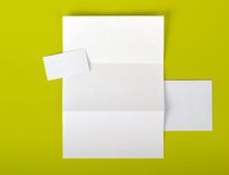 Corporate identity. Empty set with path for other background colors Stock Photo