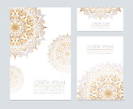 Corporate identity with floral ornaments Stock Photography
