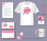 Corporate identity flower salon stock illustration
