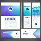 Corporate identity kit or business kit with abstract backgrounds Stock Photos