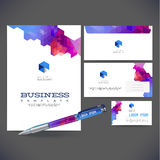 Corporate identity kit or business kit with artistic Royalty Free Stock Images
