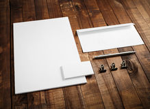 Corporate identity mock up Stock Images