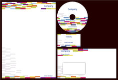 Corporate identity package. With business card, letterhead, envelope and cd Royalty Free Stock Image