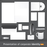 Corporate Identity for presentation. And template concept Stock Image