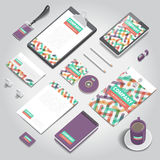 Corporate identity print template Royalty Free Stock Images