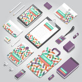 Corporate identity print template Royalty Free Stock Photos