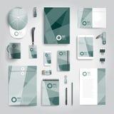 Corporate identity print template Stock Image
