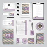 Corporate identity print template Stock Photos