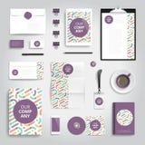 Corporate identity print template Royalty Free Stock Photos