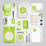 Corporate identity print template Stock Image