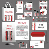 Corporate  Identity red, black and white vector template Royalty Free Stock Photos