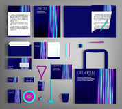 Corporate Identity set with abstract background. Blue corporate identity template design with abstract background. Business set stationery Vector Illustration