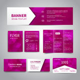 Corporate Identity Set Royalty Free Stock Photo
