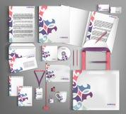 Corporate Identity set. Beautiful abstract business set statione Stock Photo