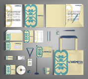 Corporate Identity set. Beautiful retro design. Stock Images