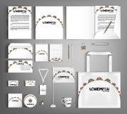 Corporate Identity set. Beautiful retro design. Stock Image