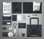 Corporate Identity set with blue vintage design. Royalty Free Stock Image