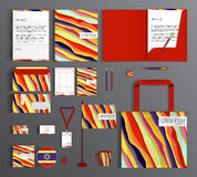 Corporate Identity. Set with colorful designs. Stock Photos