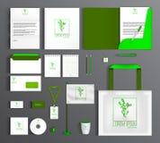 Corporate Identity set with eco friendly design. stock illustration