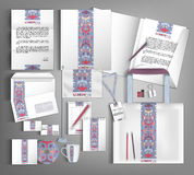 Corporate Identity set with ethno pattern. Royalty Free Stock Photography