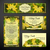 Corporate Identity Set of Floral Templates Stock Photo