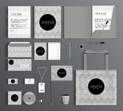 Corporate Identity. Set with a pattern of circles. Royalty Free Stock Images