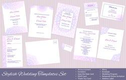 Corporate Identity Set: Presentation Folder, Letterhead, Envelope, Compliment Slip, Corporate Flyer, Business Card on Wood texture Stock Photos