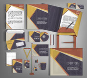 Corporate Identity set with retro pattern. Stock Photos