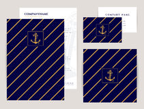 Corporate identity set. Sea collection. Stock Photography