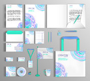 Corporate Identity set with spots. Stock Photos