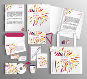 Corporate Identity set with spots. Royalty Free Stock Image