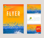 Corporate identity set for travel company. Stock Images