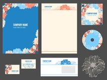 Corporate identity (stationery) for company Royalty Free Stock Photo